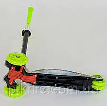 Самокат MAXI для детей 3-6 лет 3 колеса свет, PU. Детский транспорт, в коробке, фото 2