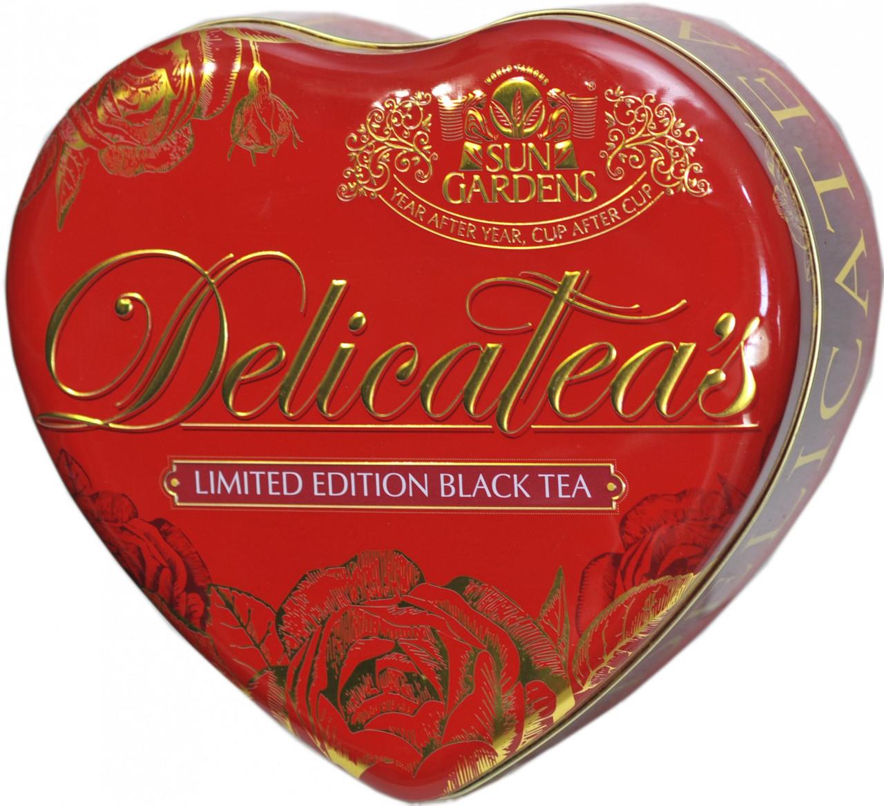 Чорний чай Сан Гарденс Серце в жерстяній шкатулці