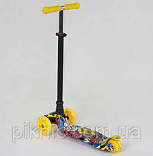 Самокат MAXI для детей 3-6 лет, 4 колеса свет, PU. Детский транспорт, в коробке, фото 2