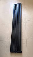 Радиатор дизайнерский вертикальный IDEALE Lucca 7/1800 Черный матовый 1800*324