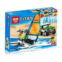 """Конструктор Lepin 02027 (Аналог Lego City 60149) """"Внедорожник с прицепом для катамарана""""212 деталей, фото 1"""