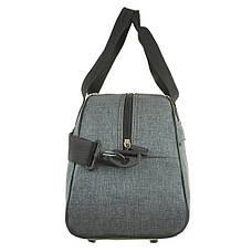Дорожньо-спортивна сумка Wallaby сіра 44х28х20 поліестер в 213сер, фото 3