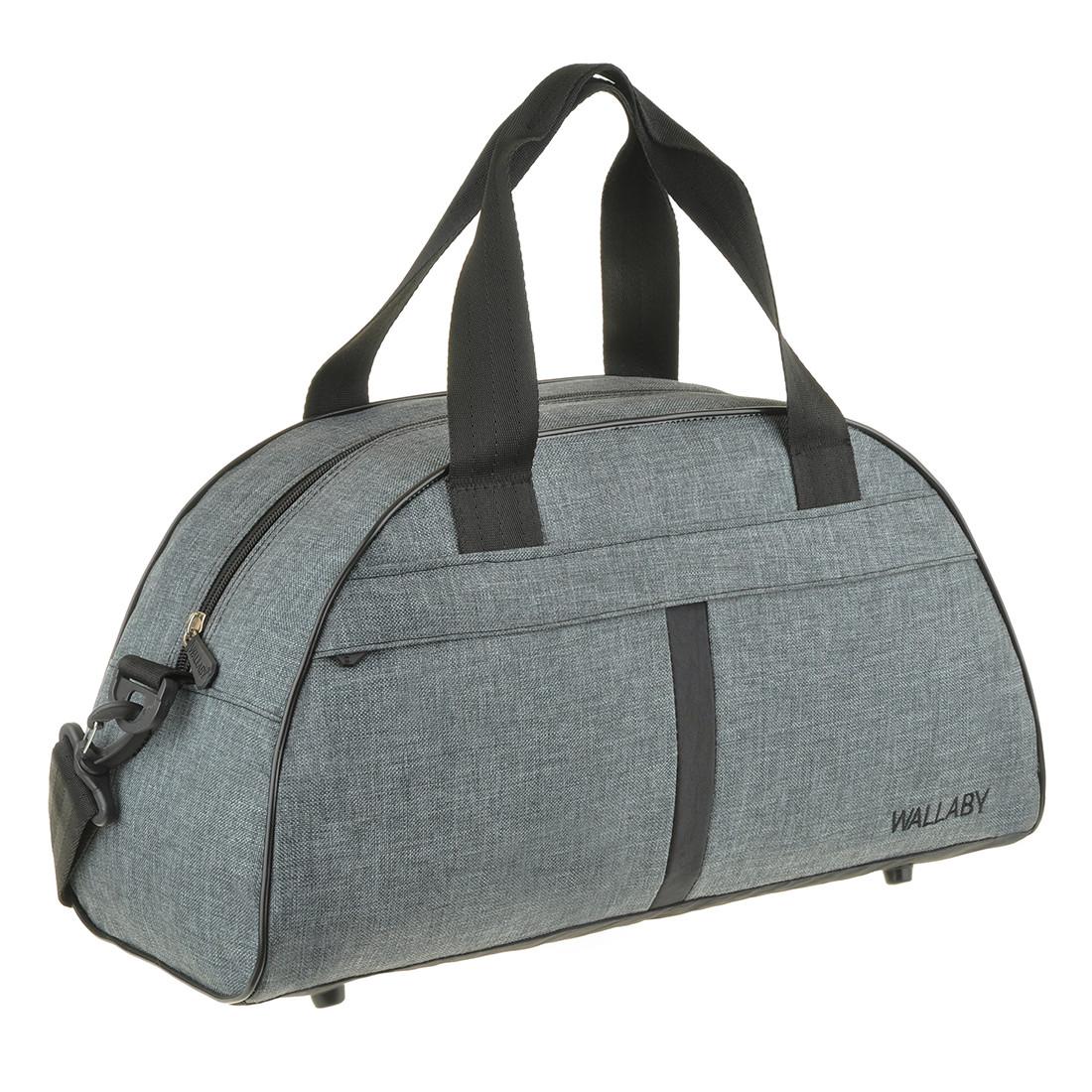 Дорожньо-спортивна сумка Wallaby сіра 44х28х20 поліестер в 213сер