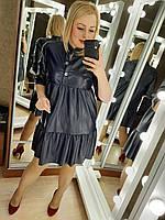 Женское платье эко кожа норма