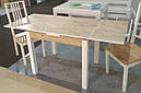 Стол обеденный Марсель 90(+35+35)*70  белый - Сонома, фото 5