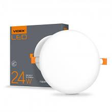 Світильник LED 24W круглий врізний 4100K 220V VIDEX