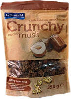 Кранчи Мюсли Crownfield Crunchy - з горіхами та шоколадом 350 г.