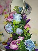 Парящая чашка декорированная. Подарок на День влюбленных.