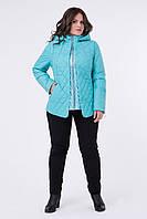 Куртка женская демисезонная с капюшоном в трех цветах 50-58 размер «Палау»