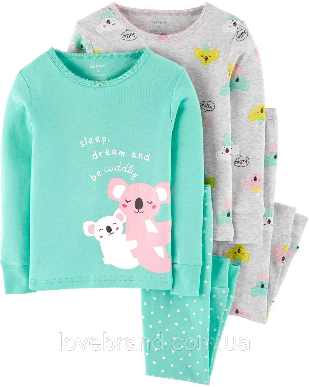 Детские пижамы Carter's Коала для девочки 2Т/86-93 см
