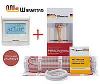 Теплый пол Warmstad 150 Вт/м²- 0,65 м² нагревательный мат с программируемым терморегулятором E51