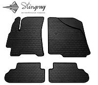Резиновые коврики  Daewoo Lanos 1997- Stingray модельные  комплект 4 шт черные Дэу Ланос