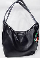 Женская кожаная сумка 1543 Black Сумки женские кожаные оптом купить Одесса 7 км