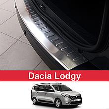 Захисна накладка на задній бампер для Renault Lodgy 2012-2017 /нерж.сталь/