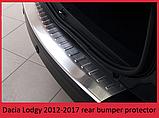 Защитная накладка на задний бампер для Renault Lodgy 2012-2017 /нерж.сталь/, фото 5