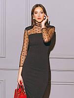 Платье с акцентированной линией плеча