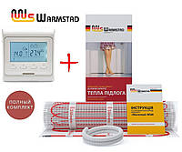 Теплый пол Warmstad 150 Вт/м²- 2 м² нагревательный мат с программируемым терморегулятором E51