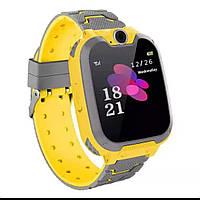 Умные детские часы с локацией, фонариком и камерой Smart Baby Watch желтые