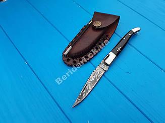 Нож  складной из дамасской стали  вs -5