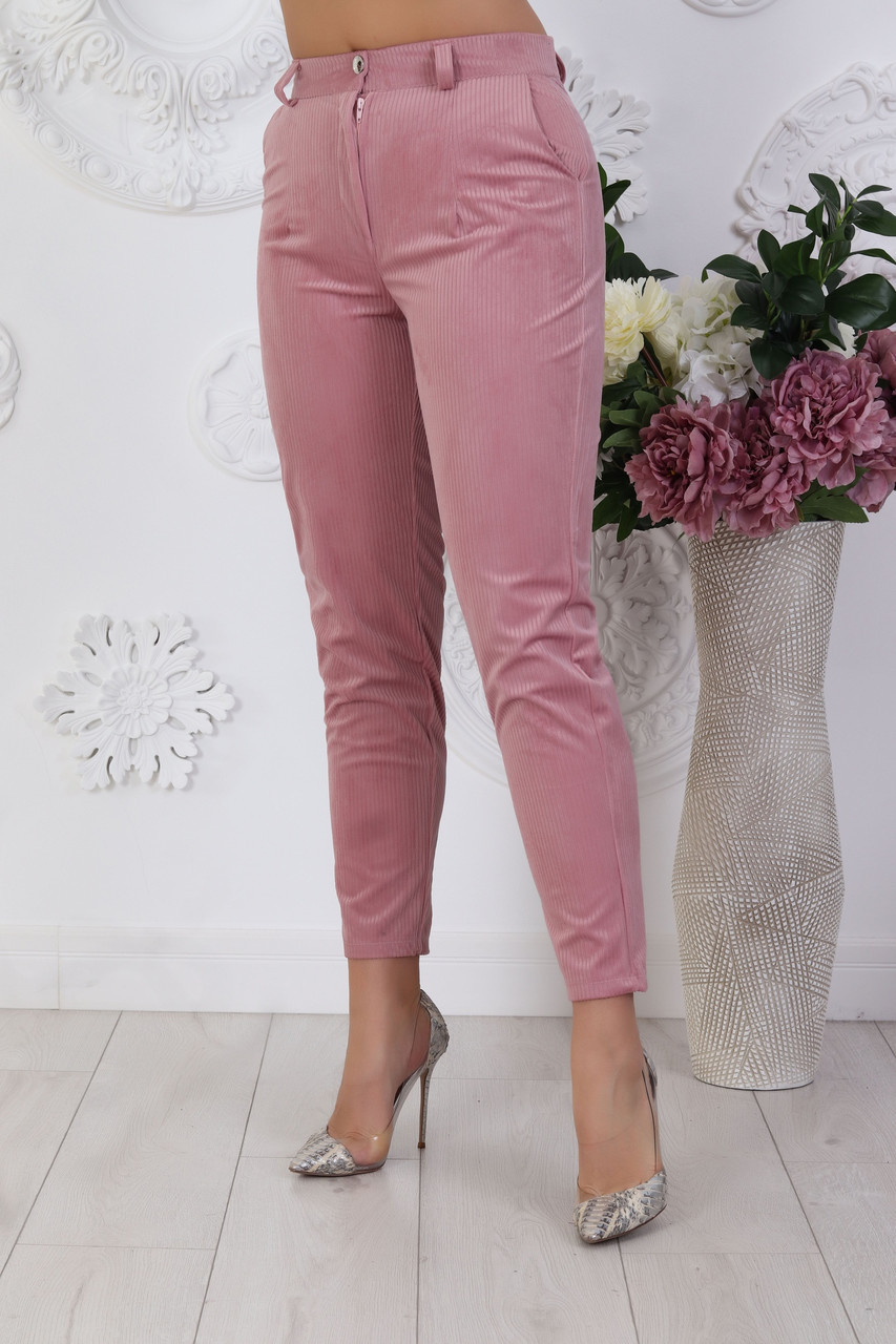 Стильные женские классические вельветовые брюки, батал большие размеры