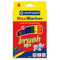 Фломастеры centropen 8773 brush набор 8 шт.