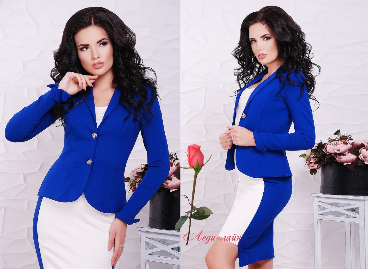 Женский  офисный пиджак на две пуговицы  NikO-1543