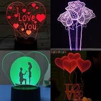 Светильник в форме сердца, 3D Светильник сердце,
