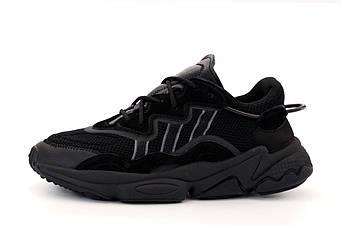 """Мужские кроссовки Adidas Ozweego """"Black"""" (копия)"""