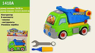 """Конструктор дитячий 1410A (1414433) (60шт/2) """"Вантажівка"""", в пакеті 26*30 см"""