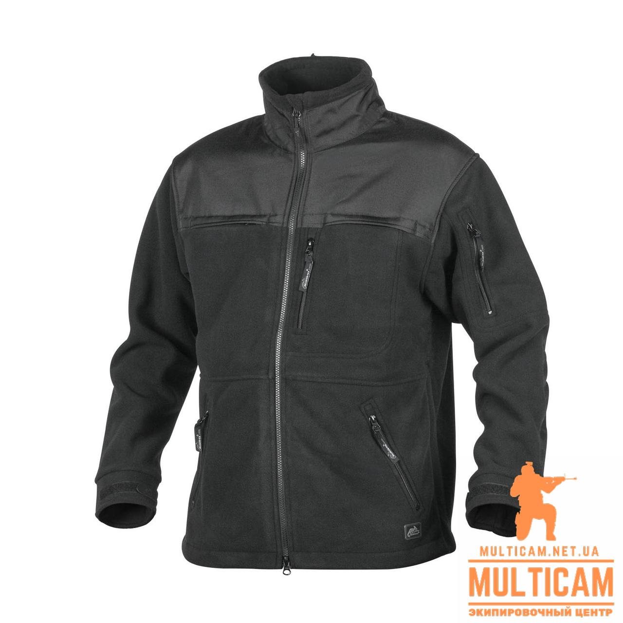 Куртка флисовая Helikon-Tex® DEFENDER QSA + HID - Duty Fleece - Черная