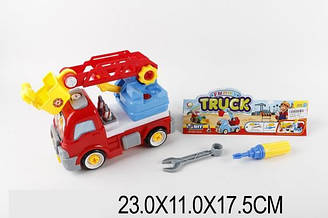 """Конструктор дитячий 1410D (1414434) (48шт/2) """"Пожежний автомобіль"""", в пакеті 23*11*17,5 см"""