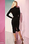 Ділове облягаюче плаття-міді з м'якої еко-замші, фото 3