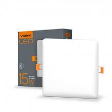 Світильник LED 15W квадратний врізний 4100K 220V VIDEX