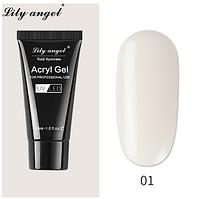 Полигель для наращивания ногтей, прозрачный, Lily angel, 30 мл, фото 1