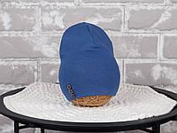 Шапочка с пуговками, синяя, фото 1