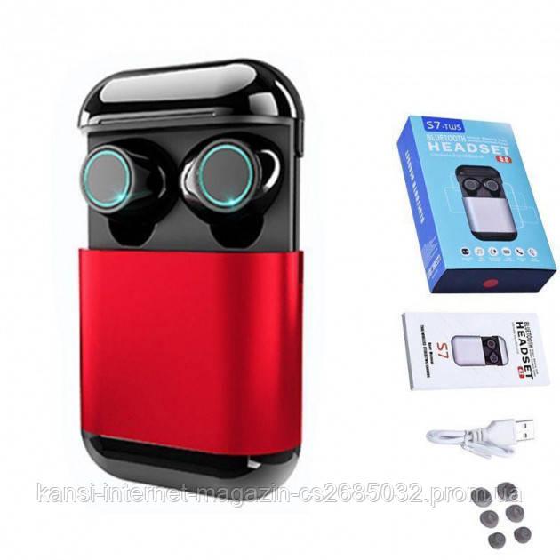 Беспроводные вакуумные Bluetooth наушники S7 TWS