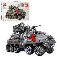 """Конструктор Sembo 107007 (Аналог Lego Technic) """"Военное транспортное средство"""" 1925 деталей, фото 1"""