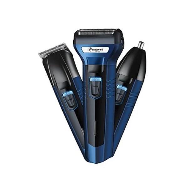🔥 Бритва-триммер Gemei GM-566 3 в 1: машинка для стрижки бритва для носа и ушей от Gemei