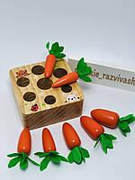 Деревянная игра сортер Морковки