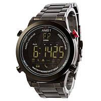 Стильные мужские электронные наручные часы AMST 3017 Metall All Black