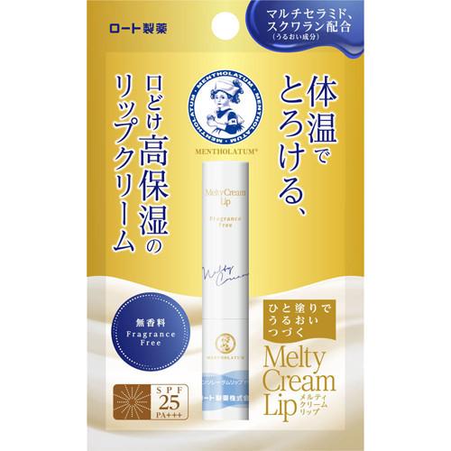 ROHTO Mentholatum Melty Cream тающий крем с керамидами для губ без запаха (2,4 г)
