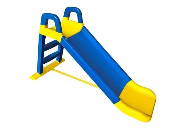 Дитяча гірка Долони 140 см. (0140/03) Синьо-жовта, фото 2