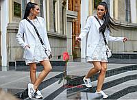 Женский  офисный пиджак белого цвета  SV-1088, фото 1