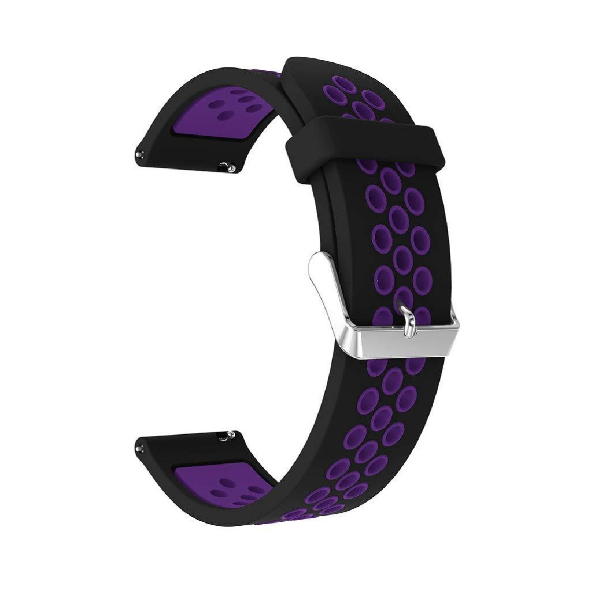 Ремешок Swift для Amazfit Stratos Sport Fitness Black-Purple (0008887)