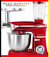 Кухонный комбайн, тестомес, мясорубка, блендер 3в1 Royalty Line Red 1900 Вт