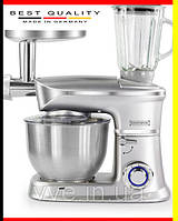 Кухонный комбайн, тестомес, мясорубка, блендер 3в1 Royalty Line Silver 1900Вт