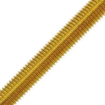 Шпилька латунная метрическая MMG  DIN 976  M4 х 1000 (Желтая) 1 шт