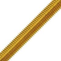 Шпилька латунная метрическая MMG  DIN 976  M5 х 1000 (Желтая) 1 шт