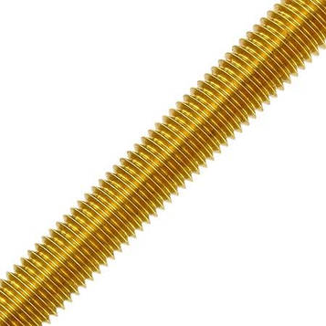 Шпилька латунная метрическая MMG  DIN 976  M6 х 1000 (Желтая) 1 шт