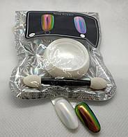 Втирка Neon powder, неоновая для ногтей Аврора Aurora 5мл арт.ВтН6 - зелёно-розовая
